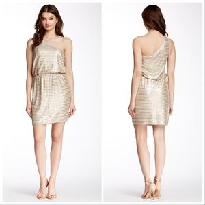 Tart | Cait Gold Sequin One Shoulder Mini Dress